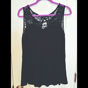 Torrid Black Lace Tank Top